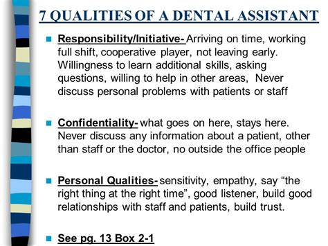 professional and aspects of dental assisting ppt