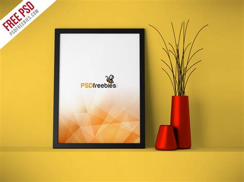 download layout frame flyer poster frame mockup free psd psdfreebies com