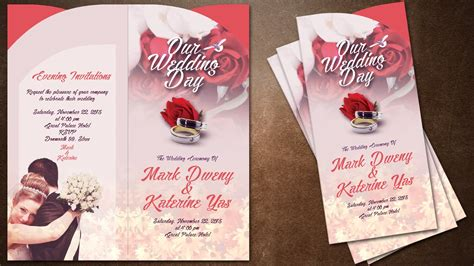 create wedding invitation card using photoshop how to make creative wedding invitations cover in