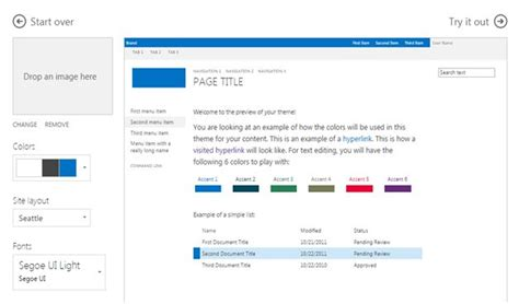 Change Office 365 Portal Theme Change Theme Of Sharepoint In Office 365