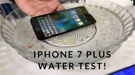 r iphone 7 plus waterproof iphone 7 plus water test actually waterproof