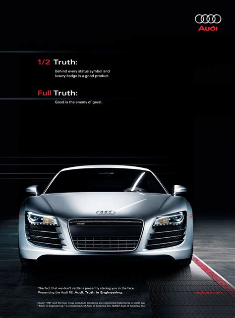 car ads audi words on images