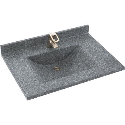37 vanity top with sink swan contour 37 in w x 22 in d solid surface vanity top