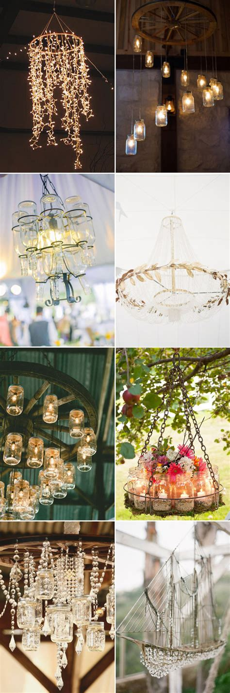 wedding decorations  romantic ideas   chandeliers