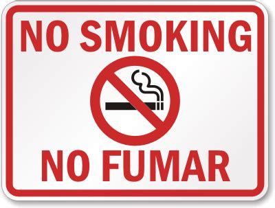 no smoking sign english and spanish no smoking no fumar bilingual sign sku k 2689