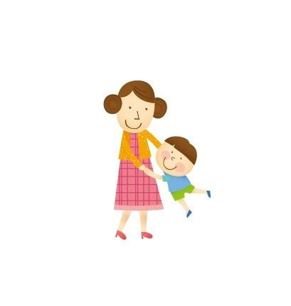 free cartoon mother and child titanui