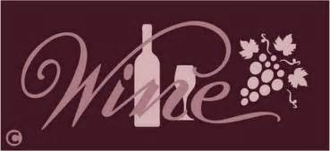 Stencil Home Decor by Primitive Stencil Wine Home Decor Bar Kitchen Grapes Wine