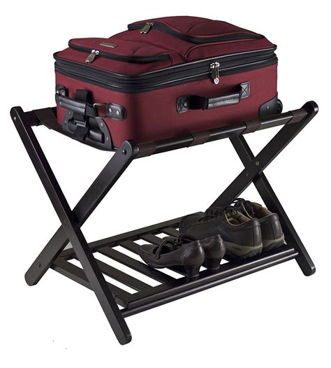 luggage rack for bedroom new winsome reese luggage rack shelf storage stand bedroom guest organizer shoe ebay