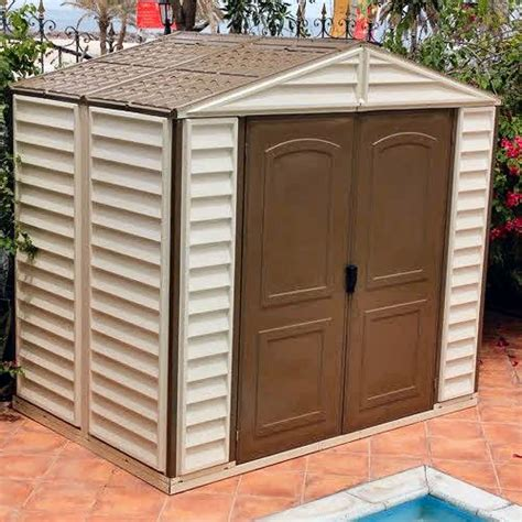 Duramax Plastic Shed by Duramax Woodside Plastic Shed 6ft X 6ft Elbec Garden Buildings