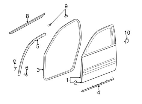 auto body repair training 2004 buick lesabre spare parts catalogs door weather strip gm 25725405 gmpartspros