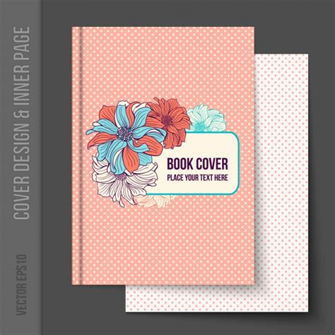 book cover design vector free download floral book cover design vector free download