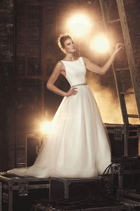Shop Wedding Dresses By Style by Tulle Skirt Wedding Dress Style 2079 Mikaella Bridal