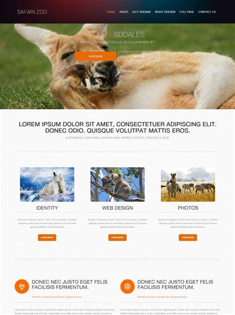 Animal Source Web Template Safari Zoo Website Templates Dreamtemplate Animal Website Templates