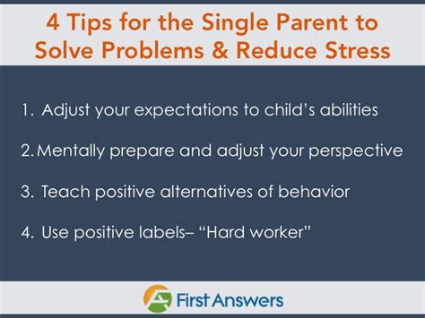 to one coping strategies for a single parent with books single parent tips to solve problems and reduce stress