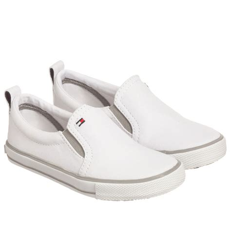 white hilfiger shoes hilfiger white canvas slip on shoes childrensalon