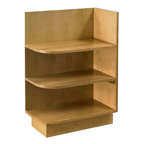 kitchen cabinet shelf home decorators collection assembled 12x34 5x24 in lewiston base right end open shelf cabinet