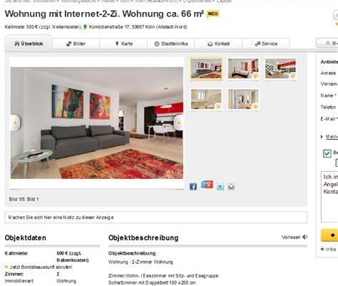 Wohnung Mieten Köln Immowelt by Wohnungsbetrug Robert Zamolfi Mail Alias