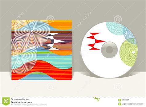 cd cover layout illustrator cd cover design template abstract pattern graphics stock