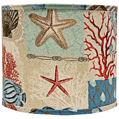Patchwork Lshade - nautical patchwork l shade 16x16x13 spider 5g793