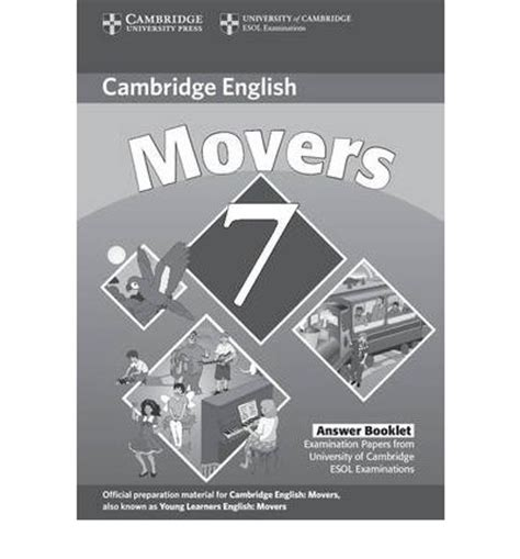 cambridge young learners english tests 7 movers answer booklet cambridge esol 9780521173728