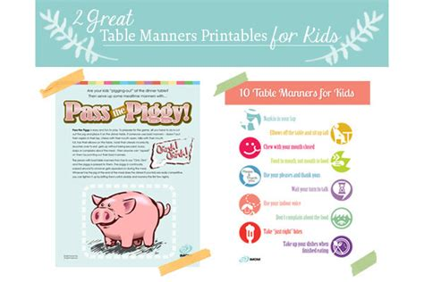 Table Manners by Two Great Table Manners For Printables Imom