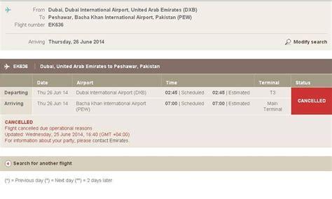emirates reservation emirates suspends peshawar flight operations