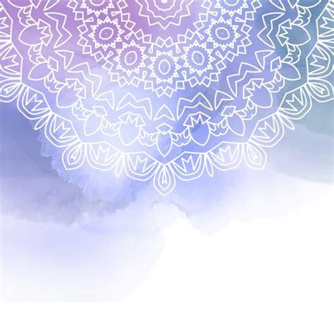 Mandala decorativo en un fondo de acuarela   Descargar