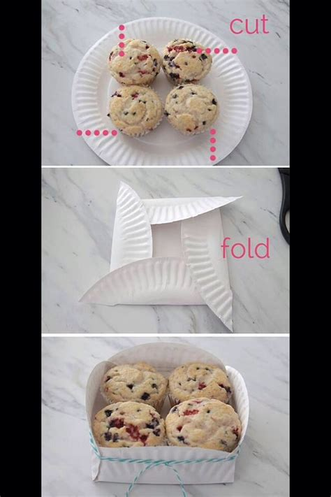 How To Make A Cookie Box Out Of Paper - paper plate cookie basket trusper