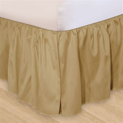 walmart bed skirts ruffled 3pc adjustable bed skirt walmart com