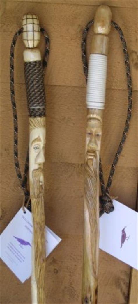 custom hand carved hiking staffs occc
