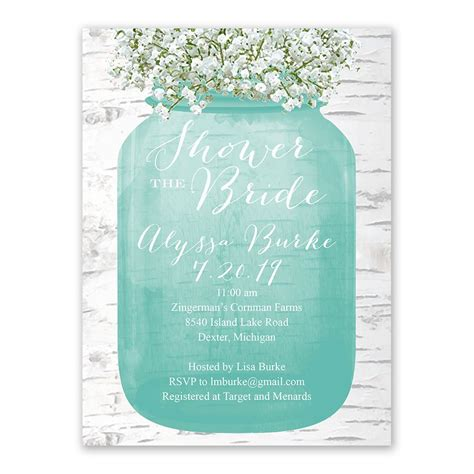 bridal shower images babys breath bridal shower invitation s bridal bargains