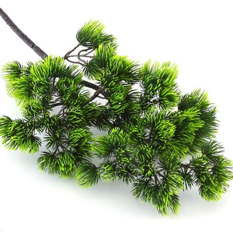 5pcs pine tree branches artificial plastic pinaster plants