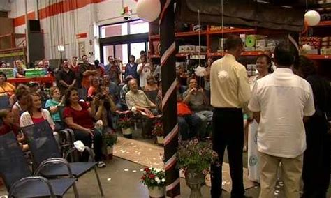 home depot garden section couple gets married in garden section of home depot jeff