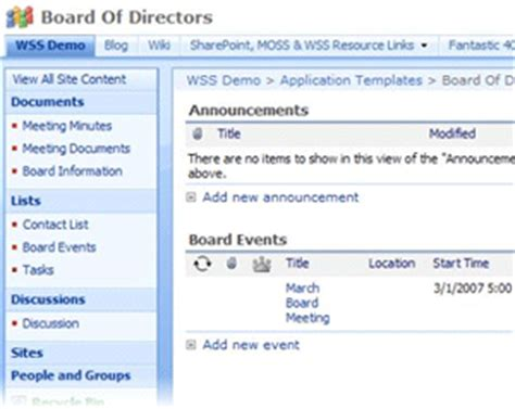 Custom Application Templates For Sharepoint Sunny Oasis Board Membership Application Template