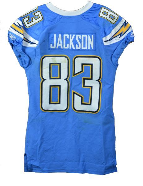 2011 san diego chargers lot detail 2011 vincent jackson worn san diego