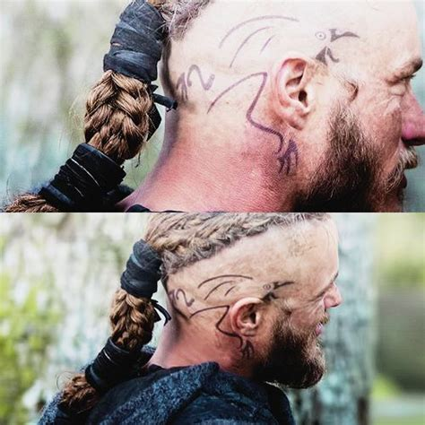 ragnar head tattoos weisheit gedanken and raben on
