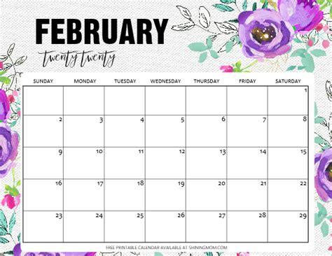 printable february  calendar  awesome designs