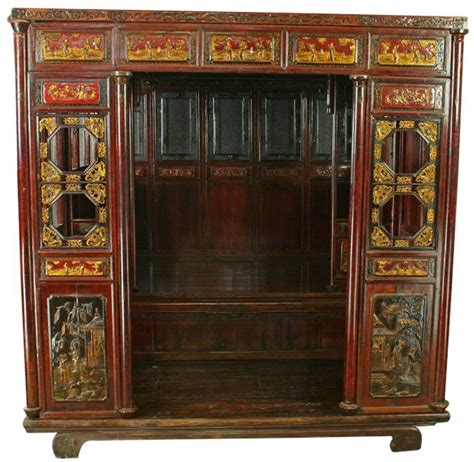 chinese wedding bed large ornate antique chinese wedding marriage bed room ebay