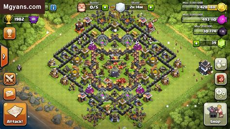 th9 layout update th9 farming base 4 mortars anti giants