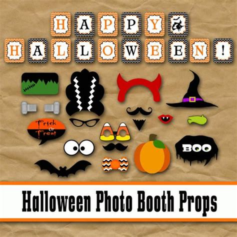halloween photo booth props printable pdf halloween photo booth props and decorations printable