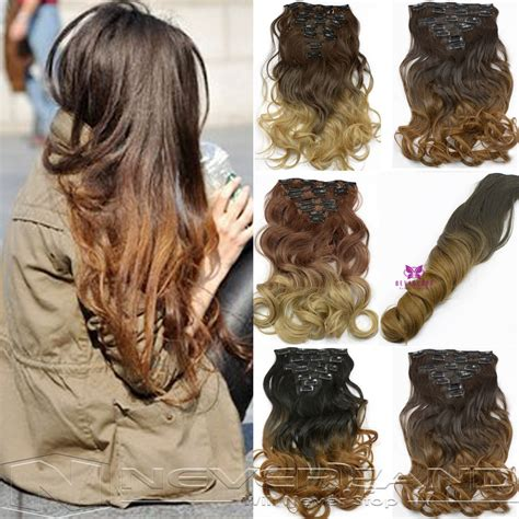 gfabke hair pieces in bsrrel curl 7pcs set clips in hair extension curly wavy fake hair