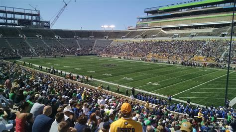 Notre Dame Stadium Sections by Notre Dame Stadium Section 5 Rateyourseats