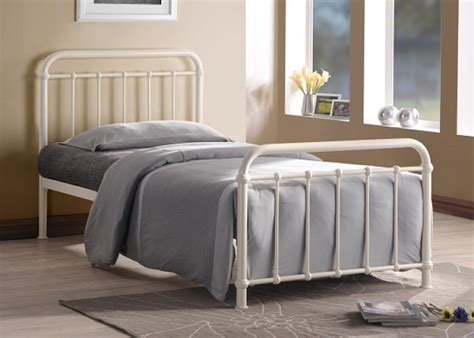 Time Living Miami 3ft Single Ivory Metal Bed Frame By Time Fashioned Metal Bed Frames