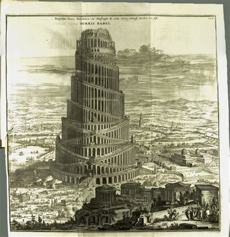 highlight from the stacks kircher s tower of babel 1679