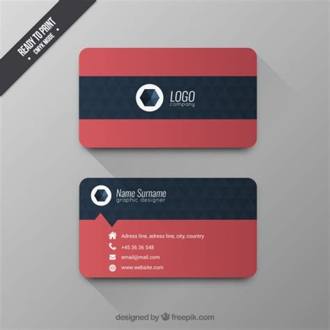 Template Para Tarjetas Bussines Card by Business Card With Geometric Pattern Vector Free