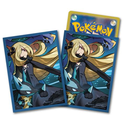 sleeves ct cynthia garchomp lucario pokemon