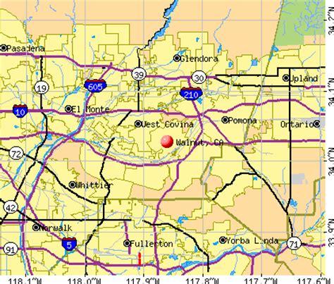 map of walnut california walnut california ca 91789 profile population maps