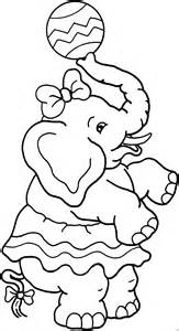 weiblicher elefant im zirkus ausmalbild amp malvorlage tiere