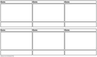 storyboards templates blank storyboard template storyboard by warfield