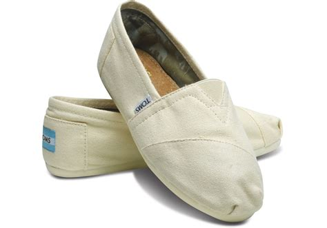 toms s classic canvas slip on shoes ebay